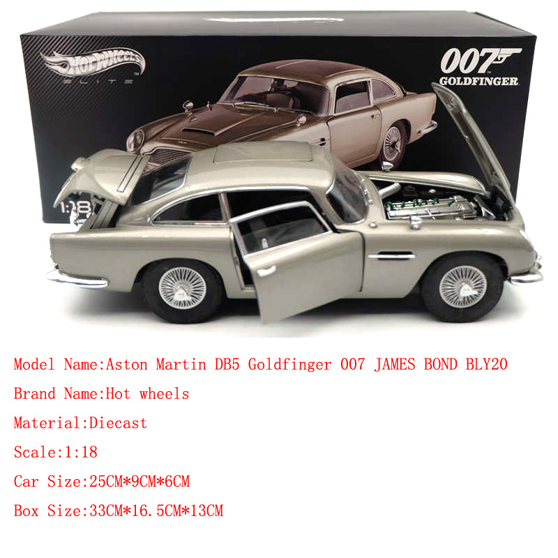 Hotwheels 1 18 Diecast Car Model For Edition Aston Martins Db5 Goldfinger 007 Jame Bonds Bly20 Collection Car With Original Box Diecasts Toy Vehicles Aliexpress