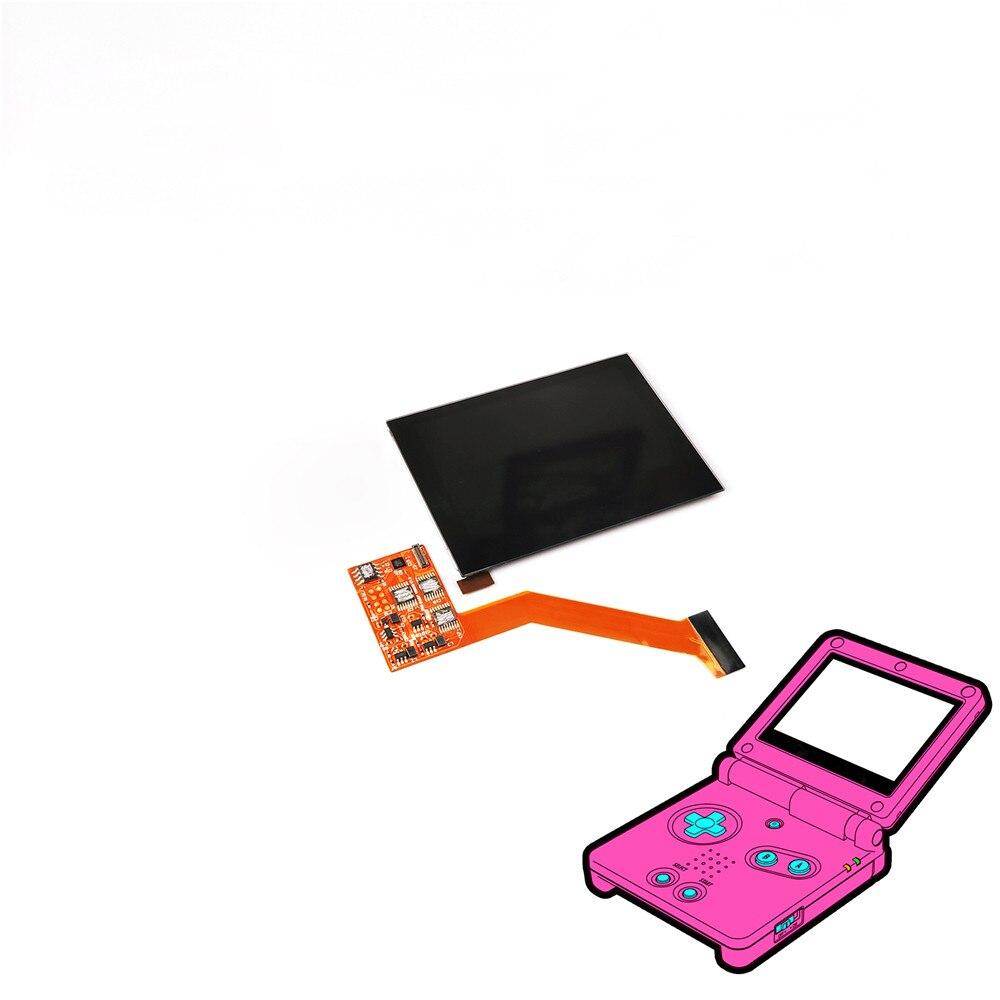 Écran LCD IPS de surbrillance de remplacement pour Console de jeu GBA SP avec luminosité réglable