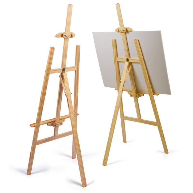 1.75 M Folding Height Adjustable Wood Easel Sketch Fine Art Sketch Drawing Board Easel Set Wedding Advertising Display Stand