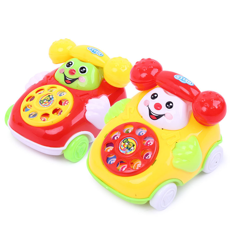 Children's Simulation Phone Classic Toys Kids Baby Cartoon Pull Line Phone Gift Develop Intelligence Education Toys