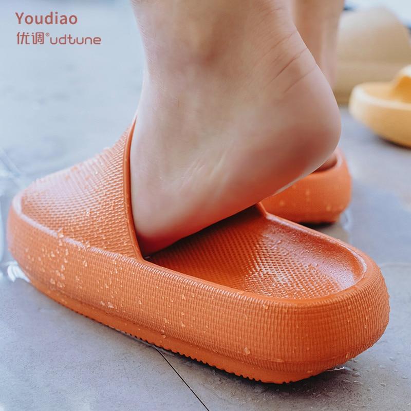 Youdiao Thick Sole Women Bathroom Slippers Women Indoor Slide Sandals Non-slip Men Ladies Boys Girls Summer Platform Women Shoes