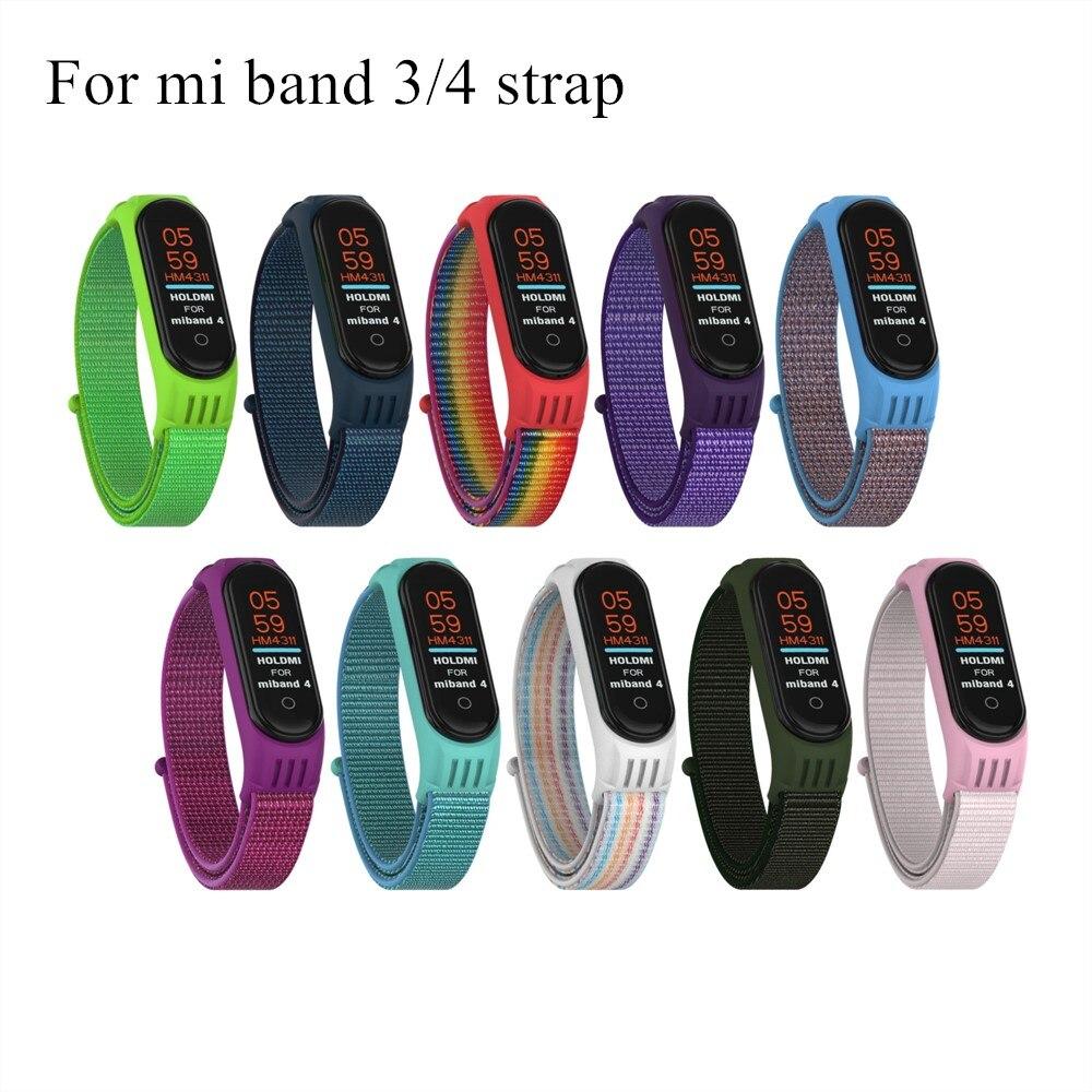 Nylon Replaceable Sport Bracelet For Xiaomi Mi Band 3 Strap Wristband Straps For Xiao Mi Miband 4 3 Bracelet For XiaoMi MiBand 4