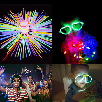 Mix Color Glow Sticks Luminous Glasses Bracelets Hairband Bright Colorful Fluorescence Light Neon for Wedding Party Bar Decor party glow bangle fluorescence light glow bracelets necklaces neon wedding christmas party glow bangle bright colorful bangle