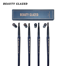 Beauty Glazed Eyebrow Pencil Waterproof Natural Long Lasting Ultra Fine 1.5mm Eye Brow Tint Cosmetics Brown Color Brows Make Up