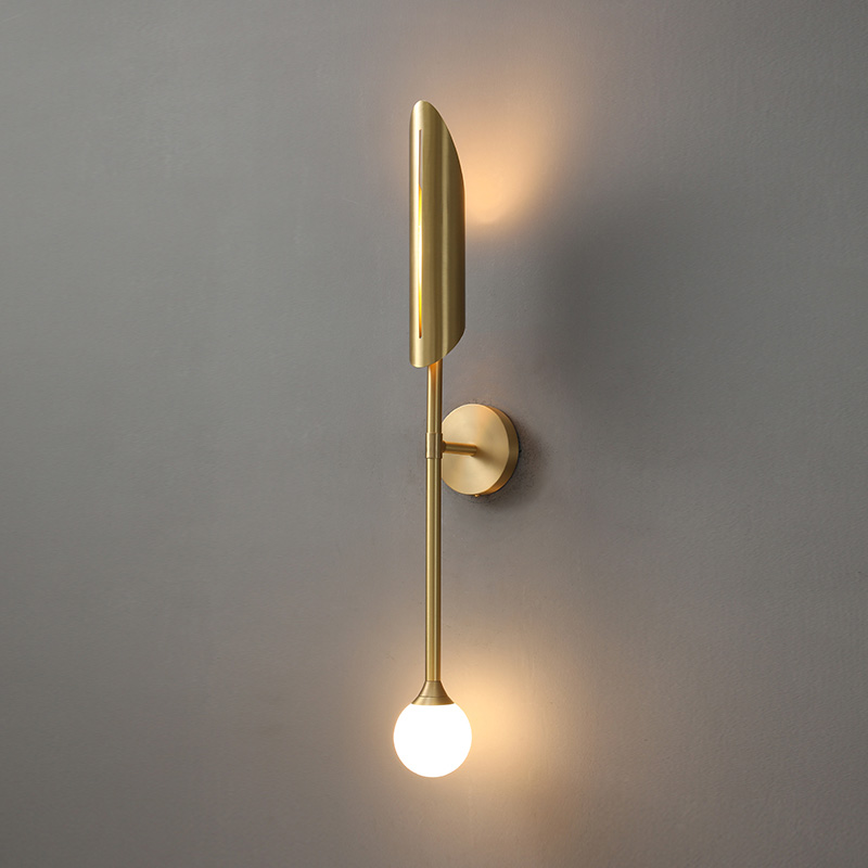 Nordic Copper LED Wall Light Living Room Modern Sconce Wall Light Bedroom Decoration Wall lights Fixture Home Indoor