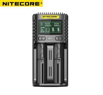 Nitecore UM2 USB z dwoma gniazdami kontroli jakości ładowarka inteligentny układ globalny ubezpieczenia li-ion AA 16340 18650 20700 21700 26650 ładowarka tanie i dobre opinie
