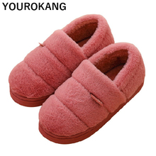 Winter Women Shoes Indoor Household Home Slippers Soft Plush Shoes Warm Cotton Flip Flops 2019 New Arrival Lover Bedroom Slipper mntrerm 2018 winter warm indoor slipper for women s at fashion home slippers warm plush household shoes chinelos femininos botas