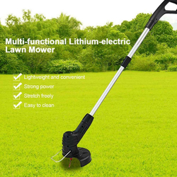 Handheld Electric Lawn Mower Agricultural Household Cordless Weeder Portable Garden Pruning Tool Grass Trimmer Brush Cutter