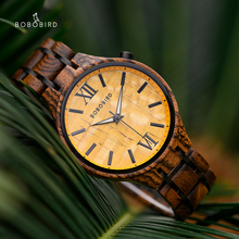 BOBO BIRD Quartz Men's Watches For Men 2020 Quartz Man Clock Luxury Wooden Wrist Watches Wooden Timepieces Anniversary Gift