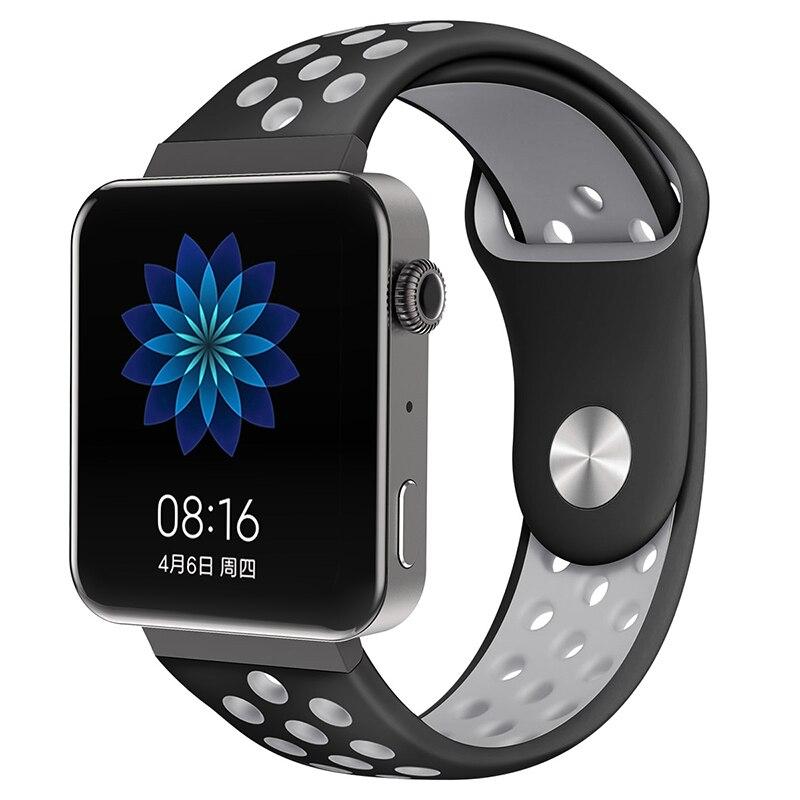 Мягкий силиконовый ремешок для часов для xiaomi smart watch, новинка, сменный ремешок для mi watch, резиновый ремешок для часов, аксессуары - Цвет: 8062