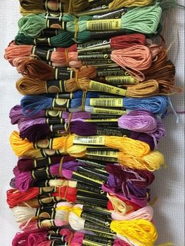 TOP CXC 5 pieces cross stitch threads / cross stitch embroidery thread / Custom threads colors 03 image
