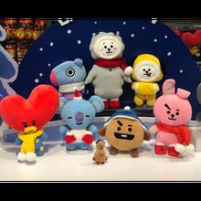 Kawaii Kpop celebridades animales de Peluche, cojín de Peluche, corazón, perro, conejo, koala, oveja, caballo, regalos de Navidad para seguidores