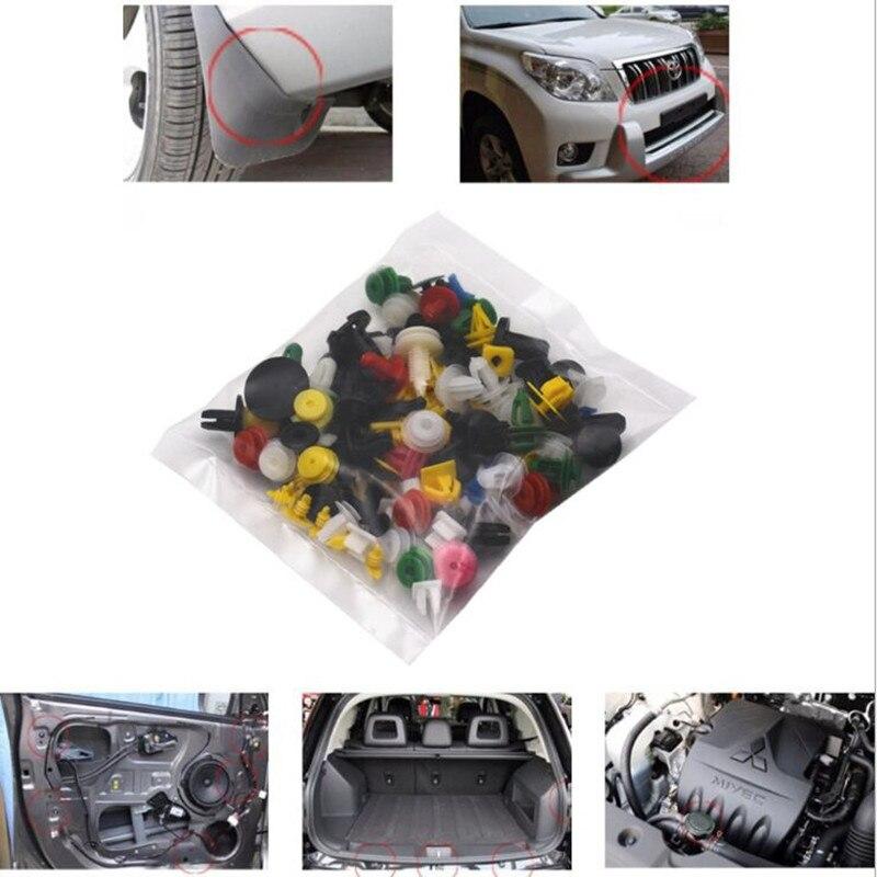 100 шт Смешанные зажимы Автомобильные наклейки для Renault bmw audi lada opel skoda mazda ford сидение Фиат VOLVO Renault Megane 2 автомобильные аксессуары