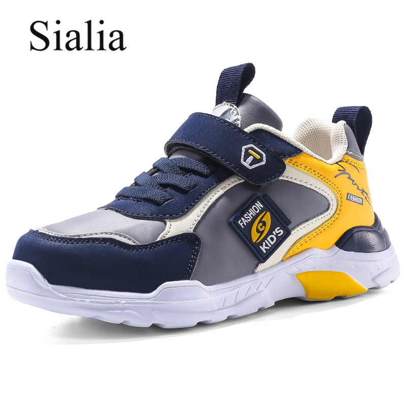 Sialia Leather Kids Sneakers For Children Casual Shoes Boys Sneakers Girls Shoes Running Sport School Tenis Infantil Menino