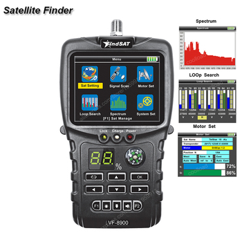 VF-8900 Satellite Finder For DVBS/DVB S2 Satellite Receiver  Satellite Meter Loop Searching Spectrun Satellite finder meter
