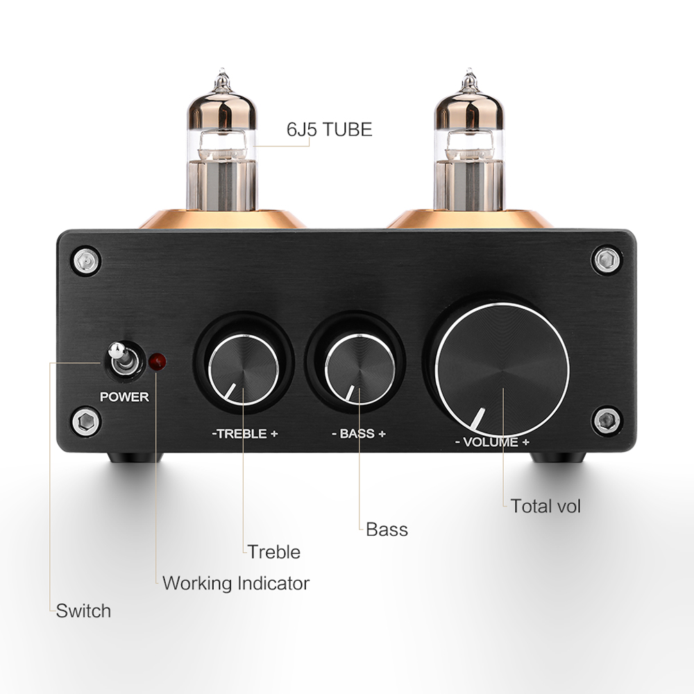 cheapest AIYIMA Buffer HiFi 6J5  Upgrade 6J1  Bluetooth 4 2 5 0 Tube Preamp Amplifier Stereo Preamplifier With Treble Bass Tone Ajustment