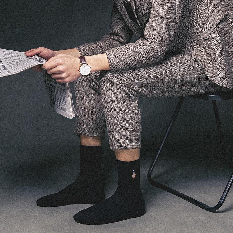 Image 4 - PIER POLO Socks Man Cotton Dress Socks Brand New Business Male Socks Men High Quality Leisure Long Socks For Gift Size 39 44-in Men's Socks from Underwear & Sleepwears