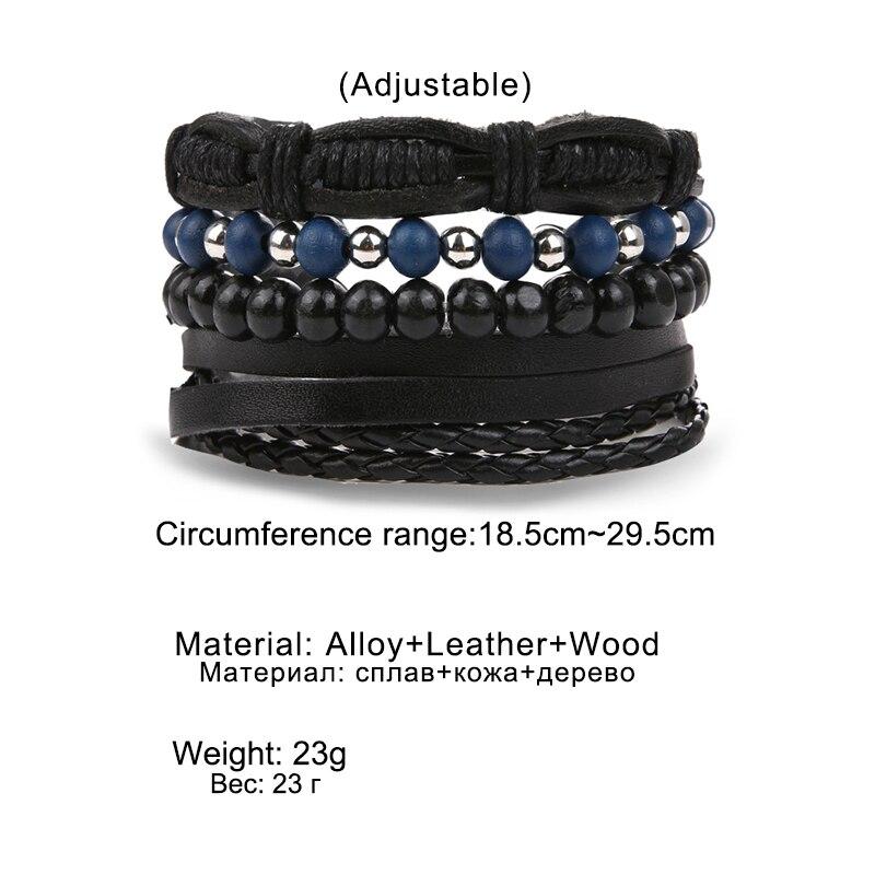 VKME Bohemia Bracelets & Bangles Women and Men Multilayer Leather Bracelets Jewelry Vintage Ethnic Gift