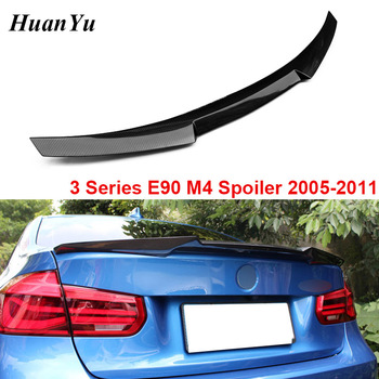 M4 Style Carbon Fiber Rear Ducktail for BMW 3 Series E90 & E90 M3 Trunk Duck Lip Wings Spoiler 320i 325i 335i 2005-2011 image