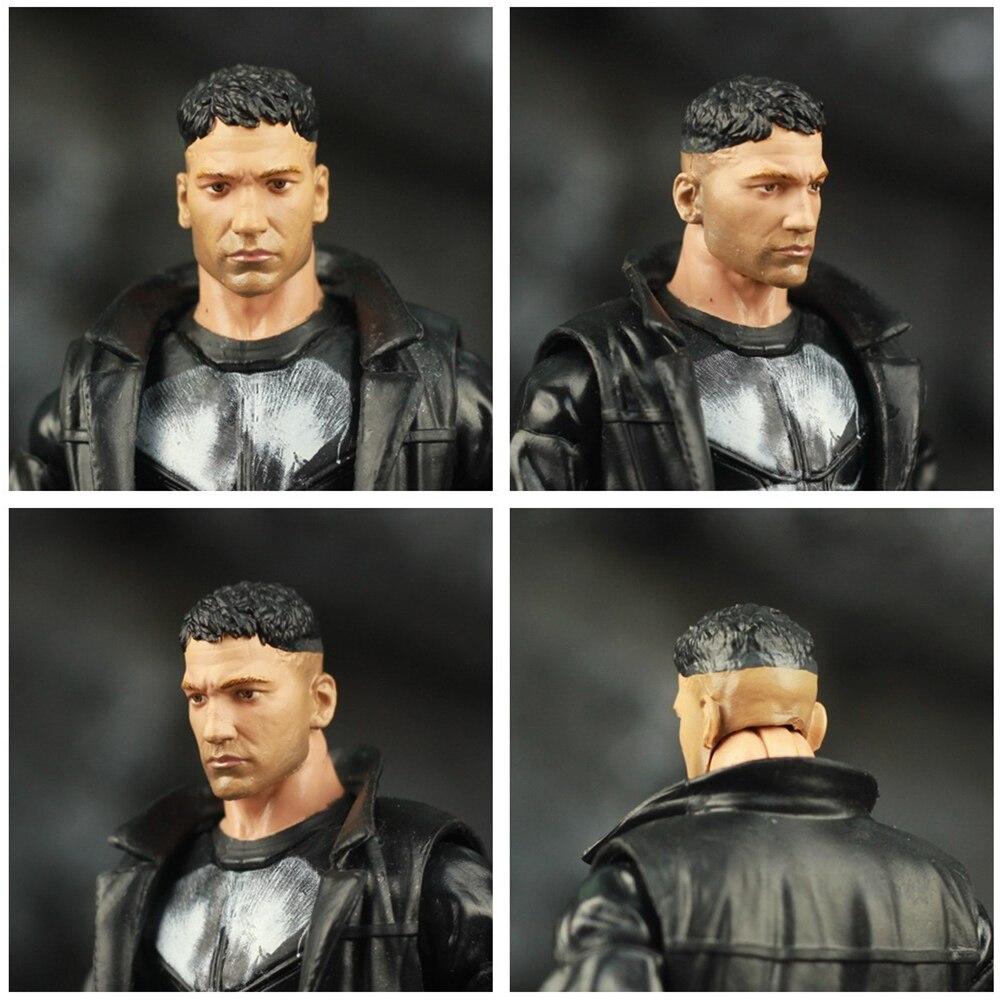 "Image 4 - Custom Marvel Legends Crossbones Mix Punisher Frank Castle TV 6"" Scale Action Figure Man Thing BAF Wave Body 1/12 Head Toys DollAction & Toy Figures   -"