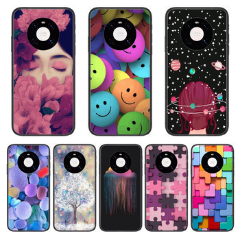 Fashion girl Beautiful Phone Case For Huawei mate 30 10 20 40 Lite Smart Z Pro Black Etui 3D Coque Painting Hoesjes case image