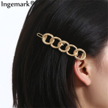Ingemark Punk Lange Ronde Hair Clips Barrette Voor Vrouwen Fashion Statement Metal Hair Pin Accessoires Schoonheid Styling Hoofd Jewelr(China)