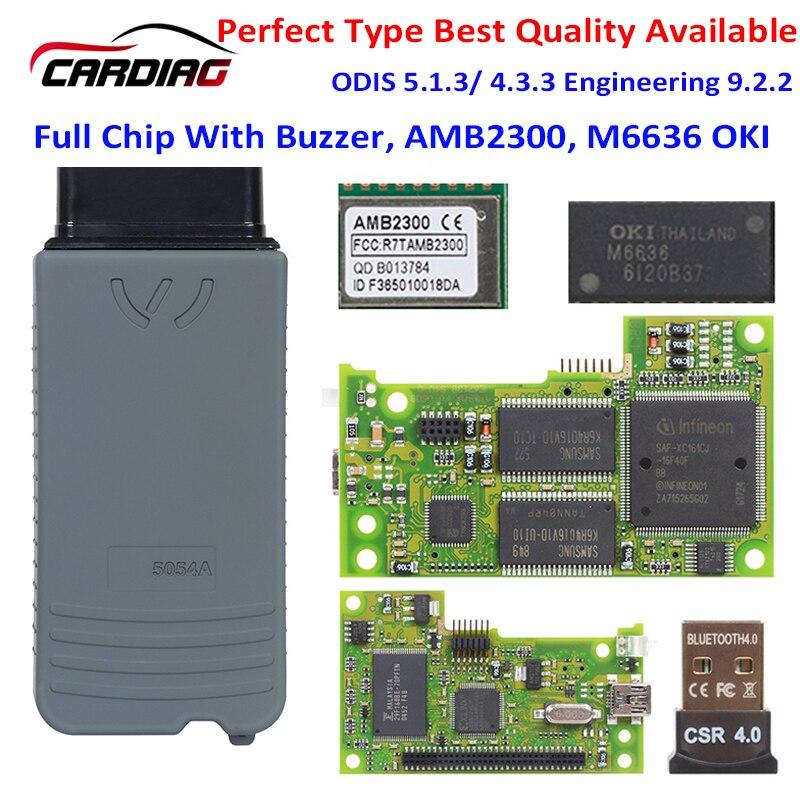 Автомобильный диагностический инструмент, 5054A ODIS V5.1.6 с бесплатным генератором ключей, оригинальный OKI AMB2300 OBD2 5054 5054a сканер кода для VAG