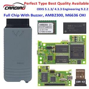Image 1 - 5054A 5054 OKI ODIS V5.1.6 lecteur de Code Original pour VAG, outil de Diagnostic automatique de voiture, Scanner, prise OBD2, AMB2300 module bluetooth