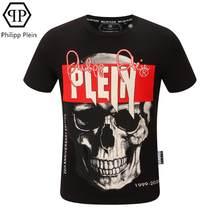 Philipp Plein-marque design original couple T-shirt crâne forage chaud coton à manches courtes T-shirt été haut t-shirts