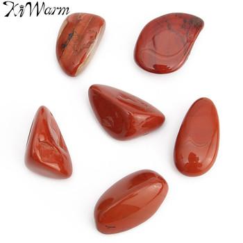 KiWarm nowy 6 sztuk czerwony jaspis kamienie polerowane kamienie uzdrawiający kryształ kamienie do akwarium wystrój akwarium 20mm-30mm tanie i dobre opinie Maskotka Nowoczesne Europa Kamień
