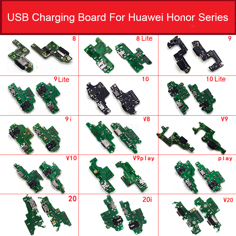 Charger USB Jack Board For Huawei Honor 8 Lite Pro 9 9i 10 20 20i Play V8 V9  V10 V20 Charging Port Module Usb Connector Board