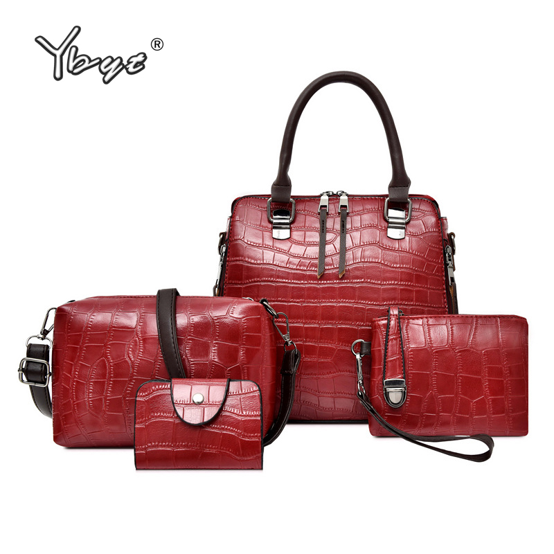 YBTY 4pcs/set vintage casual women composite bag luxury handbags women bags designer alligator female shoulder crossbody bags