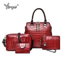 YBTY 4pcs/set vintage casual women composite bag luxury handbags bags designer alligator female shoulder crossbody