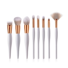 8Pcs/Set Makeup Brushes Kit Soft Synthetic Head Wood Handle Brushes Fan Flat Brush Set For Women Eyeshadow Facial Make Up new arrival black handle full brush made of synthetic fibres shaped 141 synthetic face fan makeup brushes