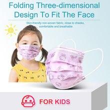 10-200 pces crianças kitty descartável máscara facial impressão 3 camada respirável dos desenhos animados máscaras de boca crianças mascarillas enfant niños