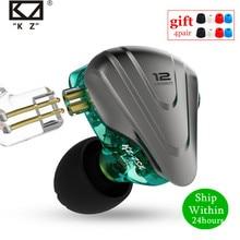 KZ ZSX 1DD + 5BA 12 유닛 하이브리드 이어폰 이어폰 HIFI 메탈 헤드셋 음악 스포츠 KZ ZS10 PRO AS12 AS16 ZSN PRO C12 DM7 as06 v90