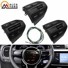 Przyciski na kierownicy dla KIA K2 RIO 2017 2018 2019 RIO X liniami przyciski telefon z Bluetooth do regulacji głośności tanie tanio Malcayang CN (pochodzenie) 0 1inch For KIA K2 RIO 2017 2018 2019 RIO X LINE car styling GOOD PLASTIC Przycisk Przełącznika