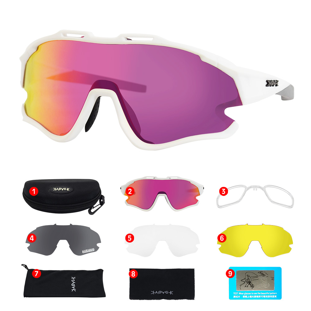 Cycling Sunglasses Professional Polarized Cycling Glasses MTB Road Bike Sport Sunglasses Bike Eyewear UV400 Bicycle Goggles 21