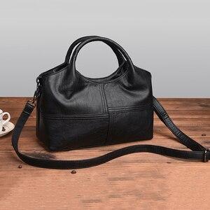Image 3 - AUAU модные Лоскутные сумки через плечо, женские кожаные сумки, женские Сумки из искусственной кожи