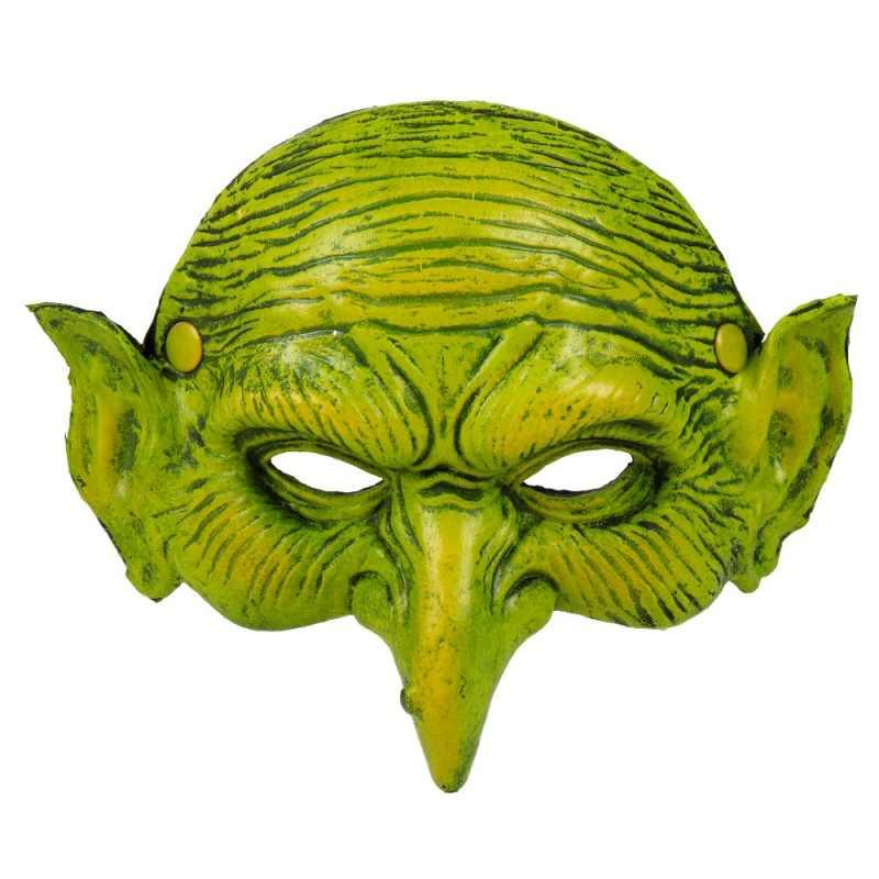 رهيب ساحرة العلوي نصف قناع الوجه تأثيري مخيف هالوين زي الدعائم الطرف للرجال والنساء