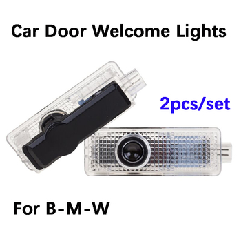 2pcs LED Door car logo light For BMW M E90 E60 E61 F12 e63 e65 F10 F02 F16 F11 E85 E89 e67 e68 Emblem Ghost Shadow Welcome Lamp liandlee for bmw 7 series e65 e66 e67 e68 2001 2008 led car license plate light number frame lamp high quality led lights