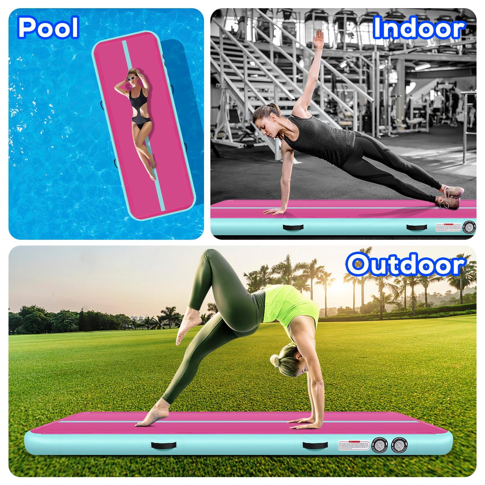 Tapis gonflable d'équipement de gymnastique de tapis de voie de 4m 5m 6m tapis de plancher d'airtrack de gymnastique tapis de pvc de tapis de Yoga pour le salon - 6