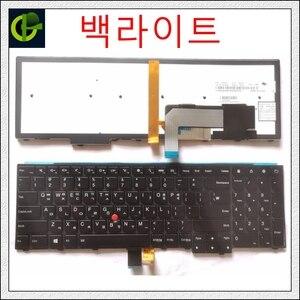 Koreański podświetlana klawiatura dla Lenovo ThinkPad W540 W541 W550s T540 T540p T550 L540 T560 L560 L570 W550 P50S krawędzi E531 E540 KR KOR