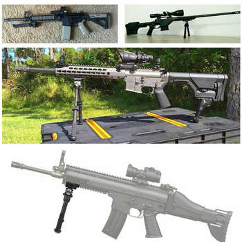 2020 Hot Sale Bipod 6-Inch Adjustable Round Head Tactical Foldable Cradle Aluminum Bipods New