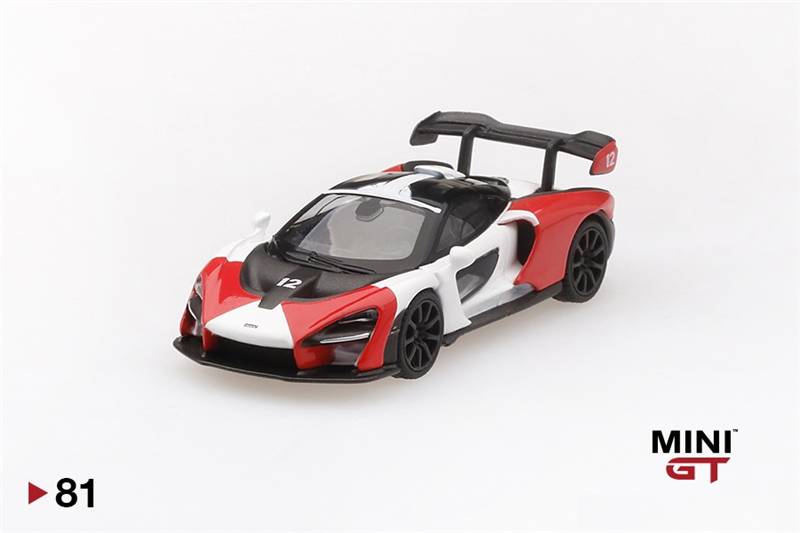 MINI GT 1:64 McLaren Senna Orange/White RHD Tsm Models Diecast Model Car