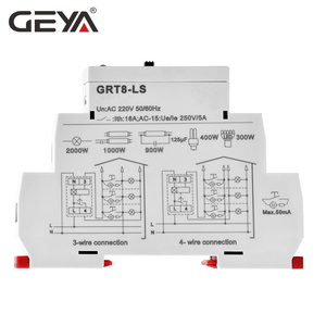 Image 3 - Ücretsiz kargo GEYA GRT8 LS Din demiryolu merdiven zaman anahtarı 230VAC 16A 0.5 20 dakika ışık gecikme anahtarı
