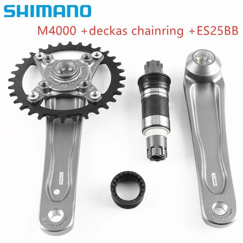Shimano Alivio M4000 Crank Crankset With Deckas Oval Round 96BCD 32T 34T 36T 38T