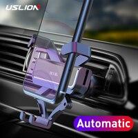 USLION-Soporte de teléfono Gravity para coche, Clip de rejilla de ventilación, No magnético, para teléfono móvil, GPS, iPhone 11, XS, MAX, Xiaomi