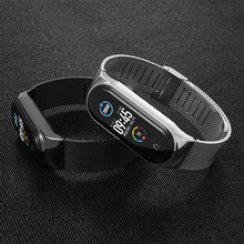 for Xiaomi Mi Band 6 5 Strap Miband Bracelet 6 Metal Watchband Xiomi 4 3 Correa Cinghia Smart Wristband NFC Global Version