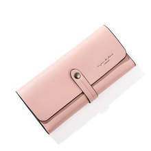 Women's Long Wallet Fashion Simplicity Hasp Leather Wallet All-match Atmosphere Coin Purse Fold Multiple Card Slots Package